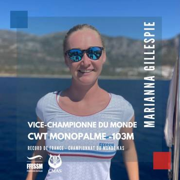 Marianna GILLESPIE record de france CWT mono Kas 2021